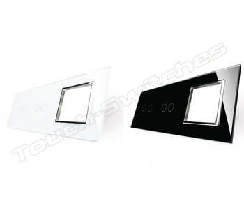 Livolo Glaspaneel | 2 x Serie + Module/Wandcontactdoos