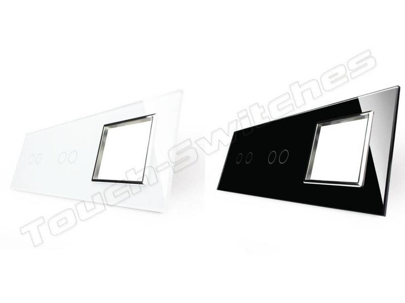 Design Glaspaneel   2 x Serie + Module/Wandcontactdoos   3 Raams