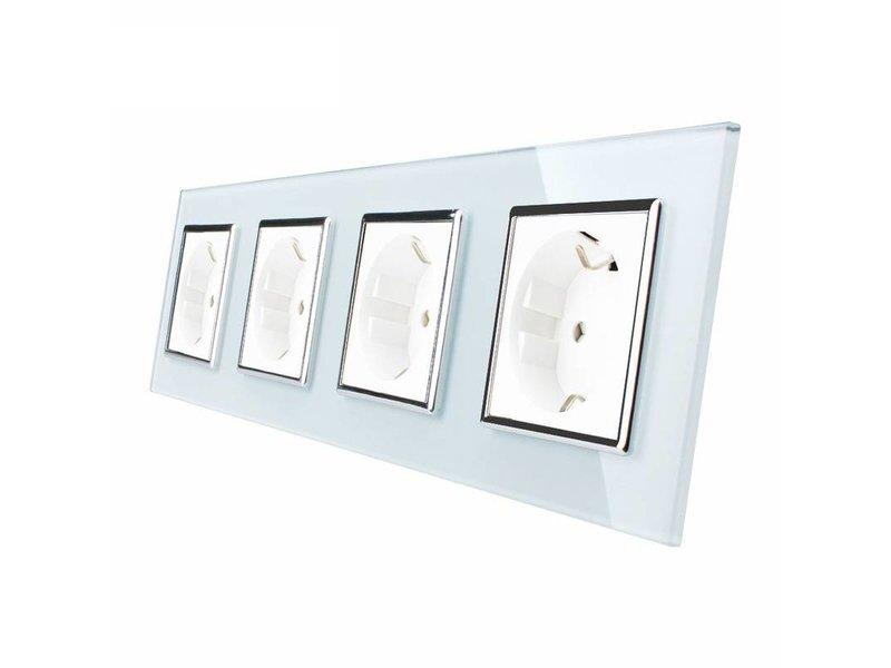 Livolo Design Socket | Quadruple | 4 Hole | EU