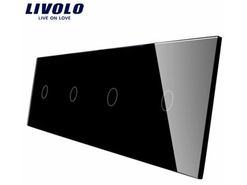 Livolo Design Glass Panel | 4 x 1-Gang | 4 Hole