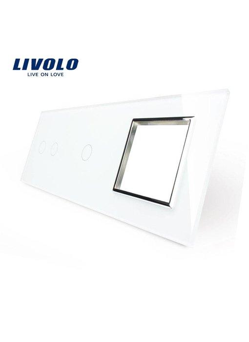 Glasplatte | 2-Polig + 1-Polig + Modul/Steckdose