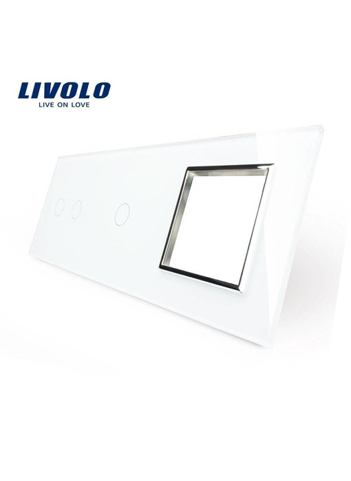 Livolo Glass Panel | 2-Gang + 1-Gang + Module/Socket