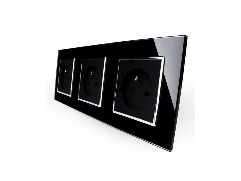 Design Steckdose | Driefach | FR