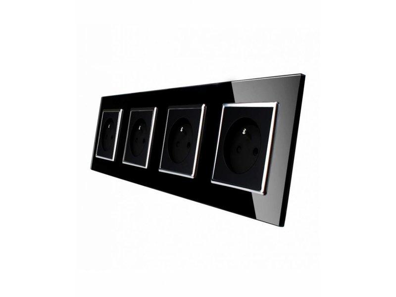 Livolo Design Socket | Quadruple | 4 Hole | FR