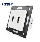 Livolo 2 X Design USB Module | 5V 2100 Mah | 1 Raam