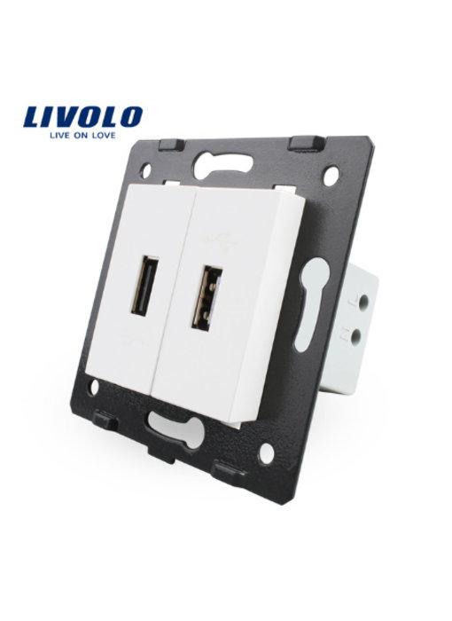 Livolo USB Module | 2 X USB | 1 Hole