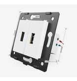Livolo 2 X Design USB Module | 5V 2100 Mah | 1 Hole