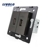 Livolo 2 X Design USB-Modul | 5V 2100 Mah | 1 Fach