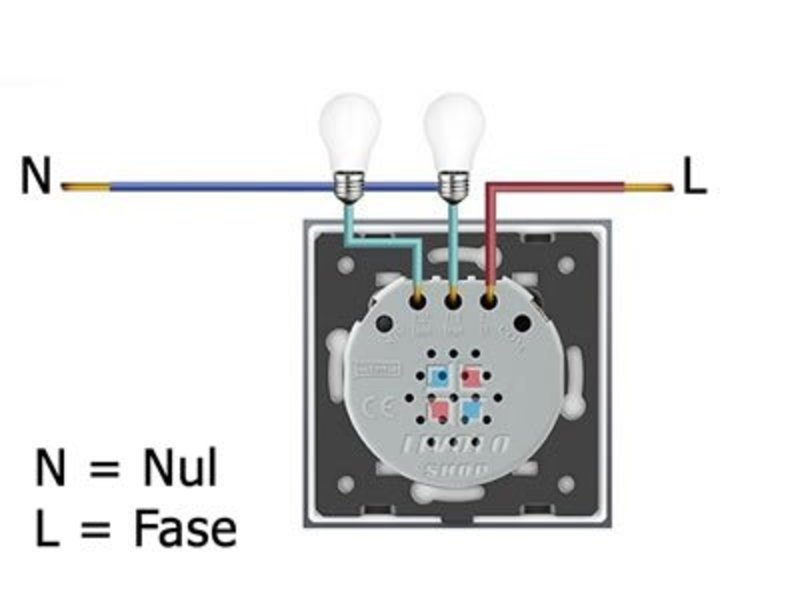 Livolo Design Touch-Schalter | Zweipoliger | 2-polig | 1 Fach