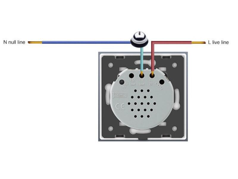 Design Touch-Schalter | Türklingel | 1-polig | 1 Fach