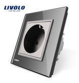 Livolo Design Socket | Single | 1 Hole | EU