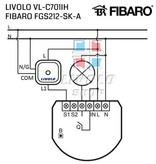 Design Touch-Schalter Module   unipolar   Geeignet für Fibaro   1 Fach