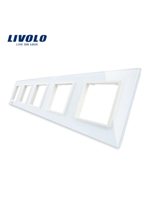 Livolo Glaspaneel | 5 x Module/Wandcontactdoos