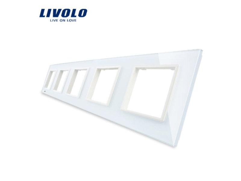 Livolo Design Glass Panel | 5 x Module/Socket | 5 Hole