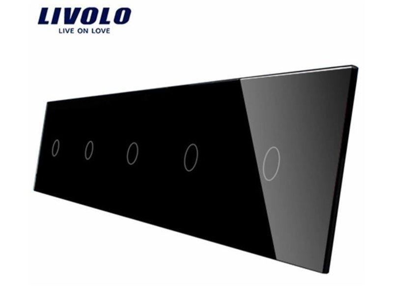 Livolo Design Glasplatte   5 x 1-Polig   5 Fach