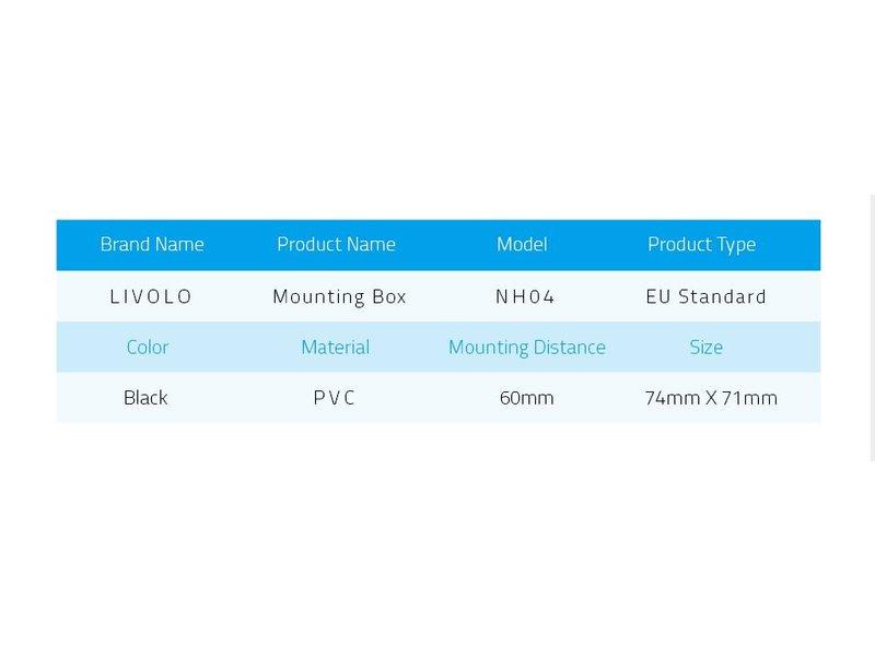 Livolo Livolo | Inbouwdoos | EU | 74mm x 71mm | koppelbaar
