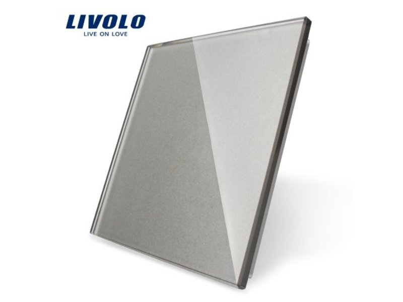 Livolo Design Glasplatte   Blindplatte   1 Fach