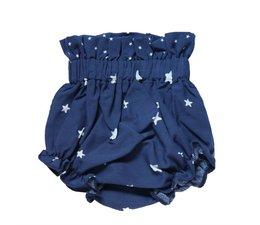 Mi Pequeño Lucas Luierbroekje kort blauw met witte sterren