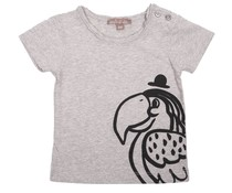 Émile et Ida T-shirt Gris Chine Perroquet