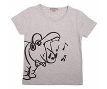 Émile et Ida T-shirt Gris Chine Hippo