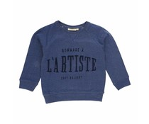 Soft Gallery  Sweatshirt Silas Netted Blue
