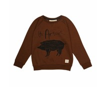 Soft Gallery  Sweatshirt Silas Dachshund Black Neppy