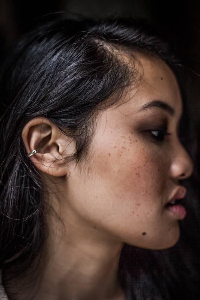 Ear Cuff Gumption, Silver