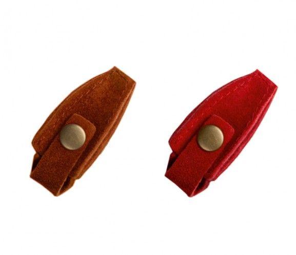 Capuchon de protection avec bouton, cuir (YM/03)
