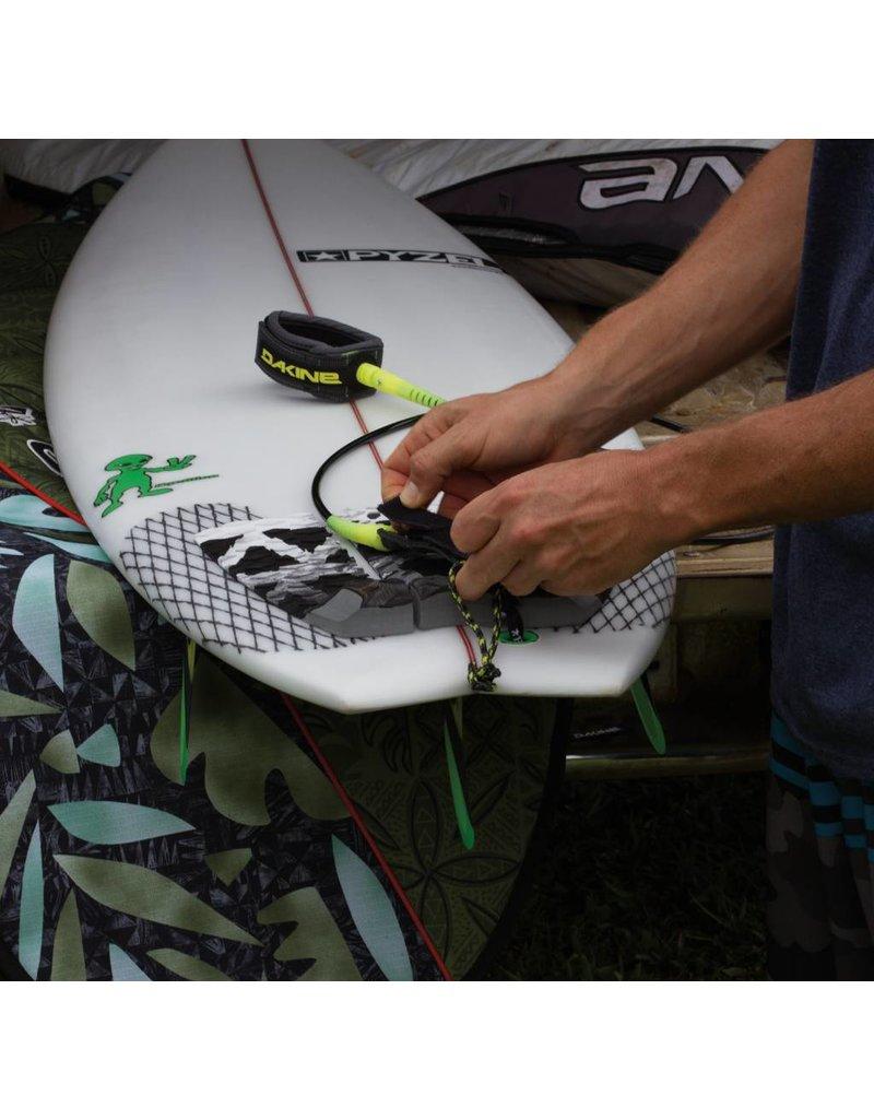 "DAKINE Longboard Calf 10'X 1/4"" Surf Leash Black Clear"