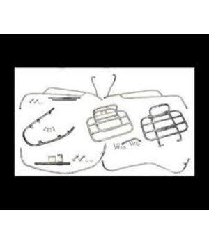 DMP Vespa beugelset chroom imitatie compleet sierbeugel valbeugel