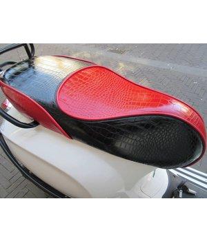 Croco zadel zwart/rood voor de Primavera en Sprint