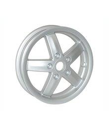 Voorwiel velg vespa lx/vespa lxv/s zilver piaggio origineel 58579r