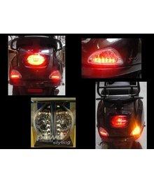 Led knipperlichten achter ( audi look ) incl. dagrijverlichting Vespa LX / S / LXV