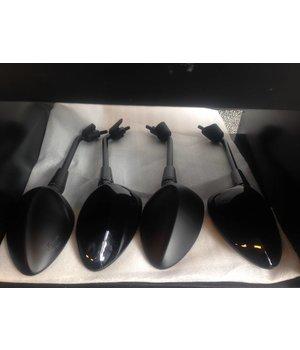 Spiegel set glimmend zwart Vespa Sprint L+R