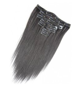 Double drawn clip-in extensions