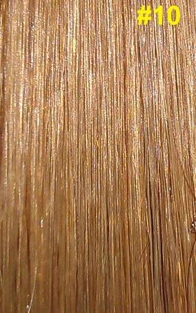 Hairextensions kleur #10 goudbruin