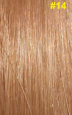 Hairextensions kleur #14 donkerblond