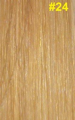 Hairextensions kleur #24 natuurlijk blond
