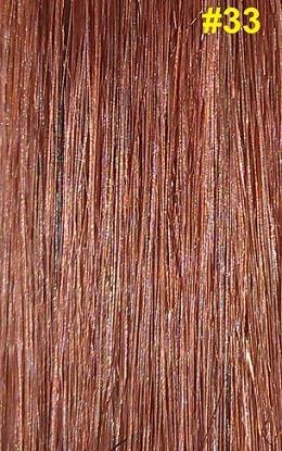 Hairextensions kleur #33 donker kastanjebruin