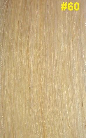 Hairextensions kleur #60 platinablond