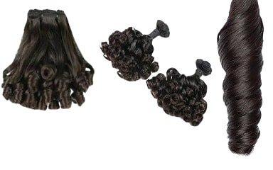 Hair weave #1 Gitzwart