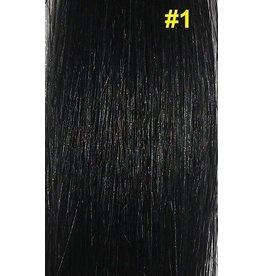 V-tip (wax) extensions #1 Gitzwart