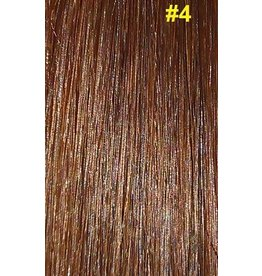 V-tip (wax) extensions #4 Chocolade bruin