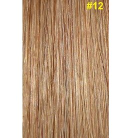 V-tip (wax) extensions #12 Goud/Asbruin