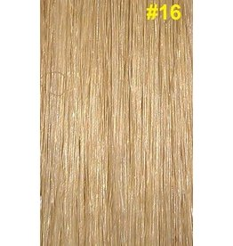 V-tip (wax) extensions #16 Asblond