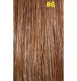 Flat-tip extensions #6 Hazelnoot bruin