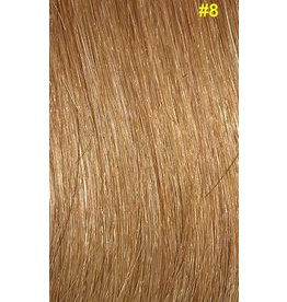 Flat-tip extensions #8 Donker honingblond