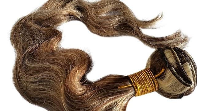 Multicolor hair weave