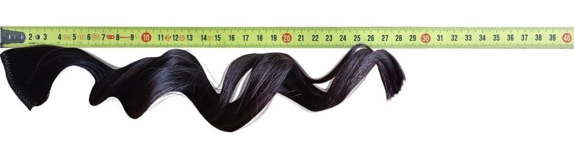 Voordelige hairextensions meten niet uitgerekt