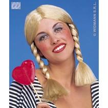 Pruik Wendy blond